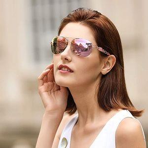 Fenchi Classic Pink Mirrored Aviator Sunglasses
